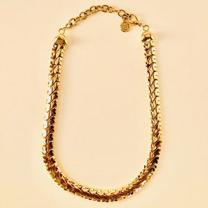 Vintage Givenchy Gold Tone Chunky Necklace